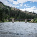 This bridge signals the confluence of the Wallowa River with the Grande Ronde River.- Grande Ronde River: Minam to Troy