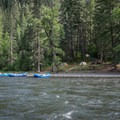 A typical camp along the Grande Ronde River.- Grande Ronde River: Minam to Troy