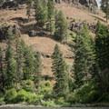 Steep basalt cliffs on the Grande Ronde River.- Grande Ronde River: Minam to Troy