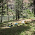 Typical campsite on the Grande Ronde River.- Grande Ronde River: Minam to Troy