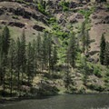 Steep canyon walls along the Grande Ronde River.- Grande Ronde River: Minam to Troy
