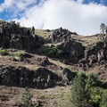 Some of the strange shapes in the canyon walls above the Grande Ronde River.- Grande Ronde River: Minam to Troy