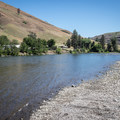 Looking downstream from the takeout.- Grande Ronde River: Minam to Troy