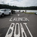 The boat launch at Willapa Bay National Wildlife Refuge.- Willapa Bay National Wildlife Refuge, Long Island Unit