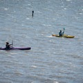 Paddling into a significant headwind on Willapa Bay.- Willapa Bay National Wildlife Refuge, Long Island Unit