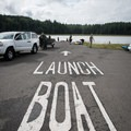 The boat launch near the headquarters.- Pinnacle Rock Campground, Willapa Bay National Wildlife Refuge