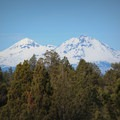 The North Sister and South Sister from the Maston Trails.- Maston Trails Outer Loop