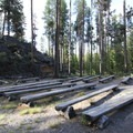 The amphitheater at Crane Prairie Campground.- Crane Prairie Campground