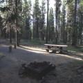 Typical site.- Crane Prairie Campground