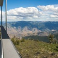 A view into central Idaho from the deck of the Heaven's Gate Lookout.- Heavens Gate Lookout