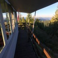 View to the south from the west deck.- Gold Butte Lookout