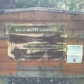 Signage at the second locked gate- Gold Butte Lookout