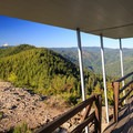 The north deck of Gold Butte Lookout.- Gold Butte Lookout
