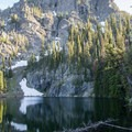 Seven Devils Lake is just a short walk from the campground.- Seven Devils Campground