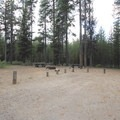 Site 6 is one of two group sites at Rock Creek.- Rock Creek Campground