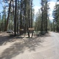 The entrance to Wyeth Campground.- Wyeth Campground, Deschutes River