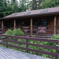 The Lincoln Woods Trailhead Visitor Center.- The Pemigewasset Loop