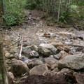 One of several stream crossings.- The Pemigewasset Loop