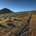 The trail - Rattlesnake Mountain stands to the left.- Rattlesnake Mountain