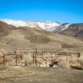 The source spring is marked by a fence to keep cattle out.- Kyle Hot Springs