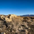 Ruined foundations of an old resort building near the springs.- Kyle Hot Springs