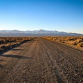 The unpaved road out to Kyle Hot Springs.- Kyle Hot Springs