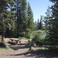 Day use picnic tables.- Big Lake Campground