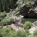 West Fourmile Creek Canyon (also known as Guffey Gorge).- Paradise Cove Swimming Hole