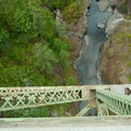 The view over the High Steel Bridge to the South Fork of the Skokomish River..- High Steel Bridge