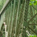 Exploring the area under the bridge can be very slippery, but it offers interesting views of the bridge.- High Steel Bridge