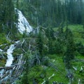 Royal Falls can be seen on the way to the upper basin near the ranger station.- Royal Basin Falls