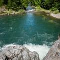 The giant pool below Wildwood Falls.- Wildwood Falls Swimming Hole