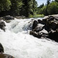 The rapids above Wildwood Falls.- Wildwood Falls Swimming Hole