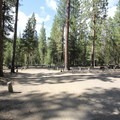The end of one of the loops at West South Twin Campground.- West South Twin Campground