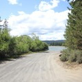 The small boat launch into Wickiup Reservoir.- West South Twin Campground