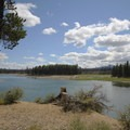 The Deschutes Arm of the Wickiup Reservoir.- Sheep Bridge Campground