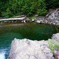 Lower swimming hole.- Box Canyon Creek Swimming Hole