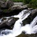Small waterfall.- Box Canyon Creek Swimming Hole