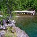 Shallow end downstream.- Box Canyon Creek Swimming Hole