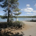 The boat launch to South Twin Lake- South Twin Lake Campground