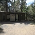 Flush toilets at the front of the campground.- South Twin Lake Campground