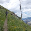 Steep slopes on the Sepulcher Mountain hike.- Sepulcher Mountain