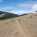 First open expanse with a vista.- Sepulcher Mountain