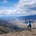 Overlooking the Gallatin National Forest, Absaroka-Beartooth Wilderness, and northern Gardiner.- Sepulcher Mountain