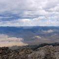 View of Gardiner.- Sepulcher Mountain