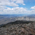 View of Gardiner Canyon.- Sepulcher Mountain