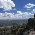 View to the east with Bunsen Peak.- Sepulcher Mountain