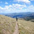 Steep mountainside descent from Sepulcher.- Sepulcher Mountain