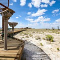 Boardwalks over the sensitive and often saturated ground.- Ash Meadows National Wildlife Refuge