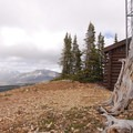Radio tower on Bunsen Peak with Electric Peak in the distance.- Bunsen Peak